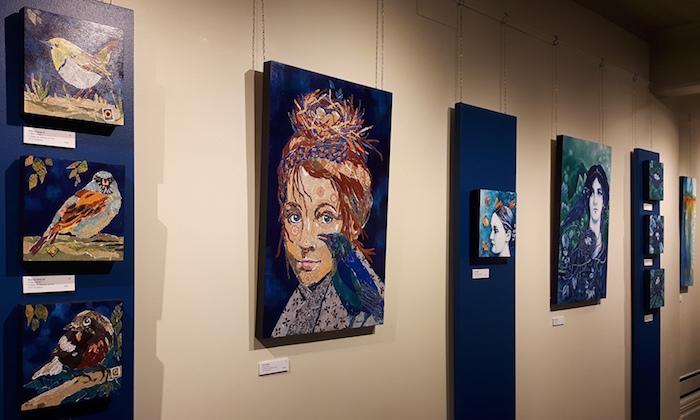 des tableaux de Celine_Poirier au Musee regional de Vaudreuil-Soulanges photo courtoisie MRVS