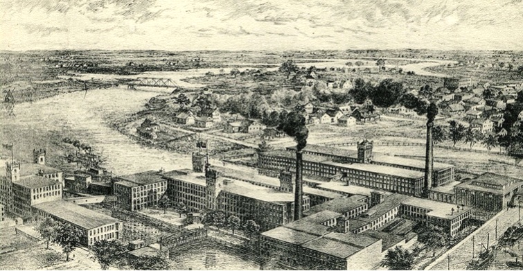 dessin Montreal Cotton Valleyfield vers 1900 Coll FrancoiseBisaillon et LouisPothierDerome via MUSO