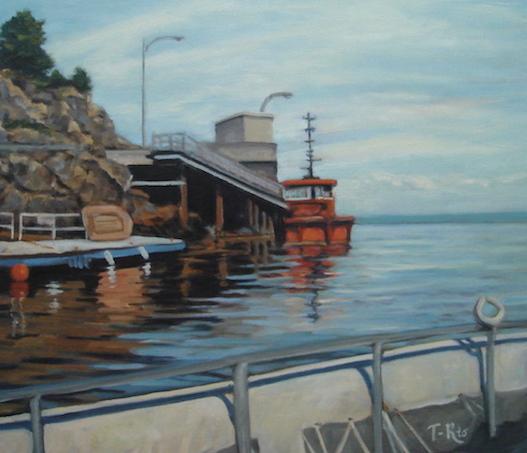 en bateau a Charlevoix tableau de Linda_T-Rio photo courtoisie MRC