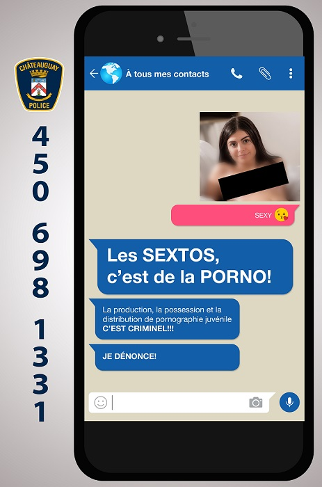 police Chateauguay visuel 1 campagne 2018 contre sextos