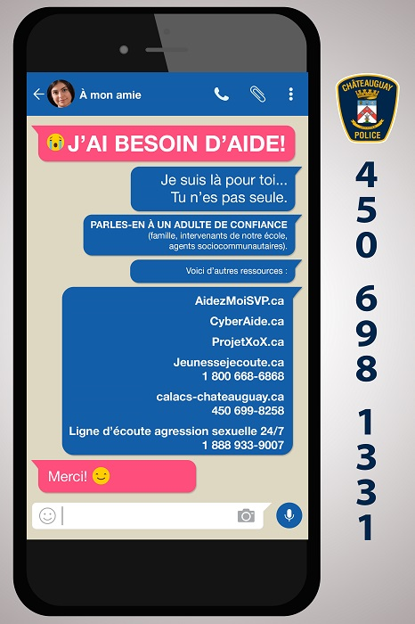 police Chateauguay visuel 2 campagne 2018 contre sextos