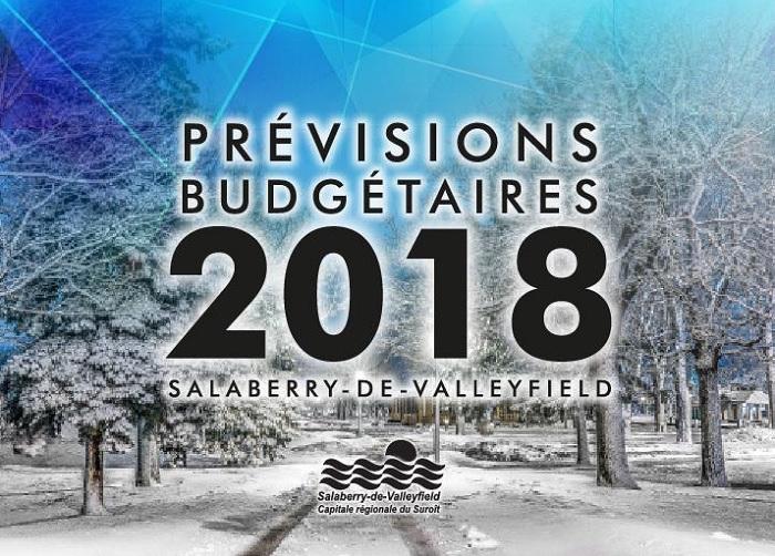 visuel Previsions budgetaires 2018 ville Valleyfield publie par INFOSuroit