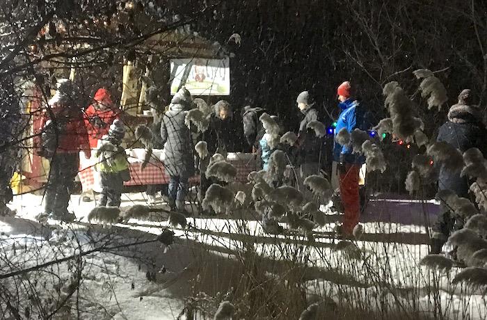 Bois Robert Beauharnois veillee antan kiosque tire sur neige photo courtoisie