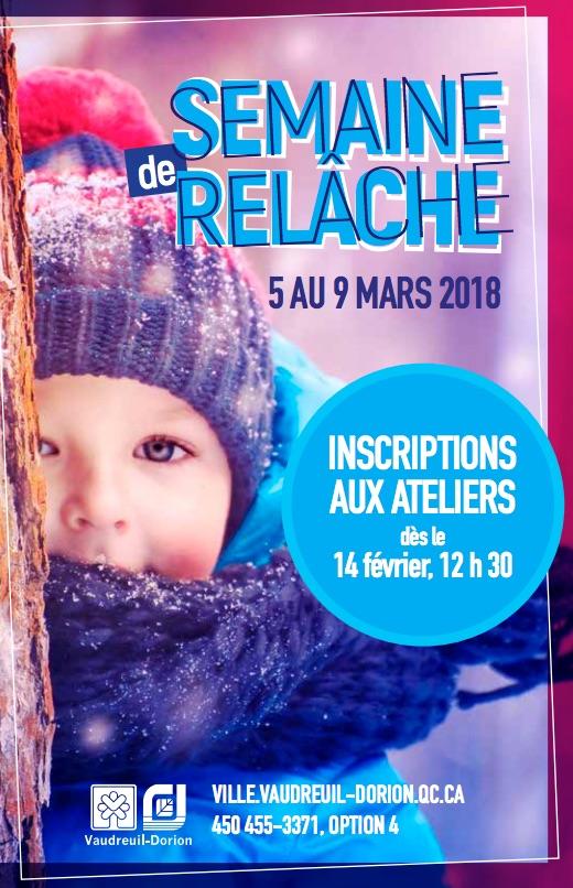 Brochure semaine relache scolaire 2018 Vaudreuil-Dorion