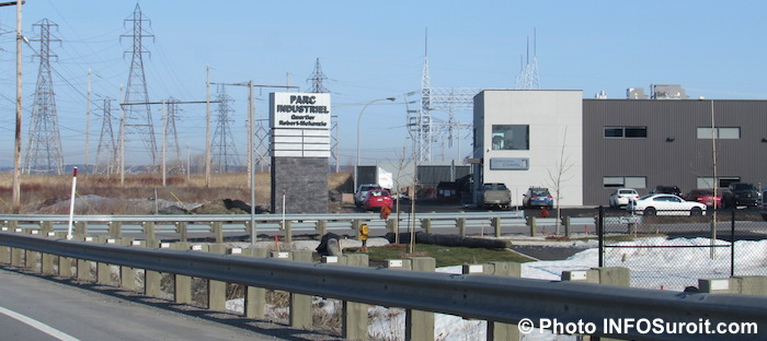 Parc industriel Beauharnois secteur Robert_McKenzie photo INFOSuroit