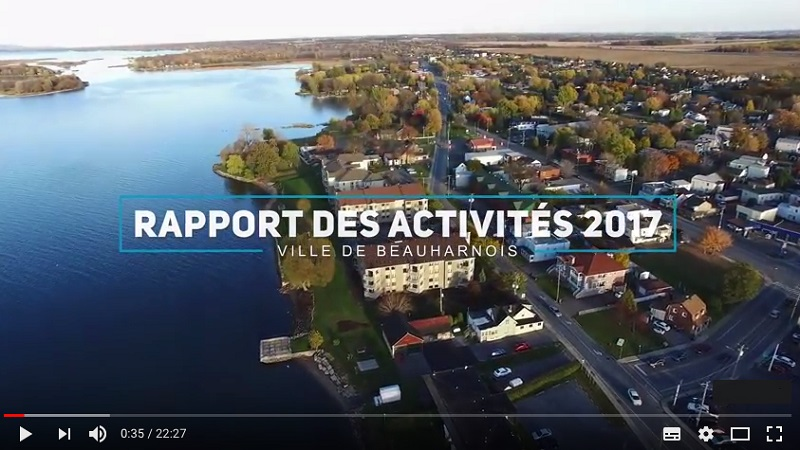Rapport des activites 2017 Ville de Beauharnois extrait video Youtube