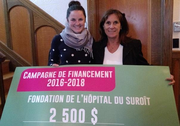 VLalande et NicolePoirier Soiree benefice remise argent Fondation Hopital photo courtoisie