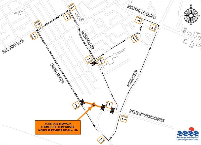 carte travaux boulevard Gerard-Cadieux Valleyfield 27fev2018 courtoisie SdV