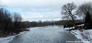 fleuve St-Laurent entre Valleyfield et Coteau-du-Lac hiver Photo INFOSuroit