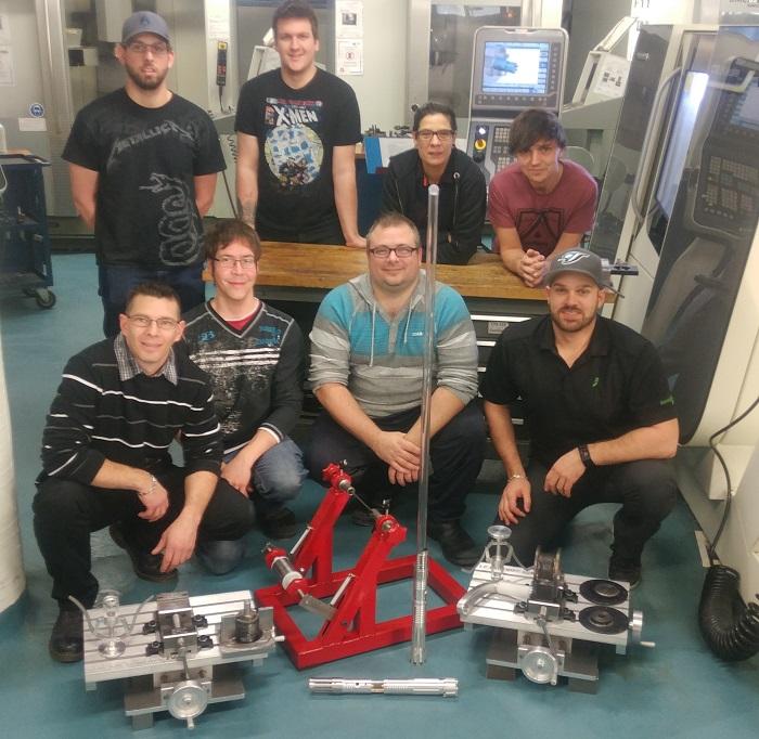 Cegep de Valleyfield etudiants premiere cohorte Fabrication mecanique photo courtoisie ColVal