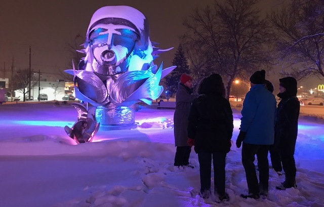 Couleurs et douceurs MUSO balade Valleyfield sculpture lumieres fev2018 Photo courtoisie MUSO via INFOSuroit