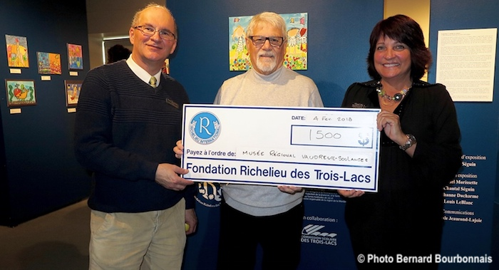 Fondation Richelieu remise cheque Musee regional VS photo BernardBourbonnais