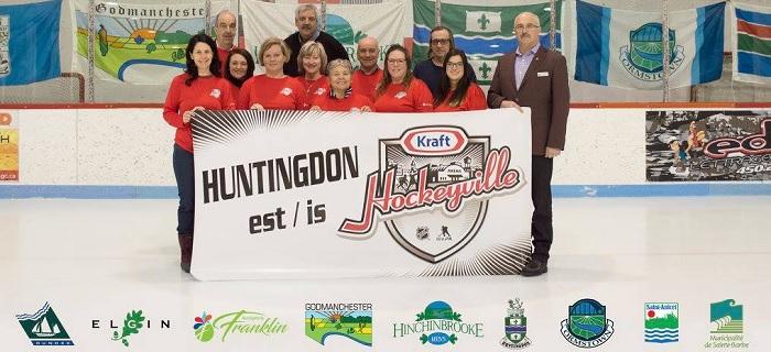 Huntingdon Hockeyville 2018 banniere centre de la glace photo courtoisie