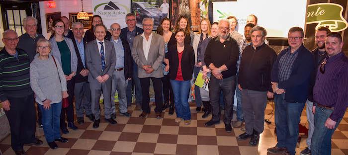 agriculteurs et intervenants Vaudreuil-Soulanges projet retention des sols et biodiversite riviere Delisle Photo MRCVS