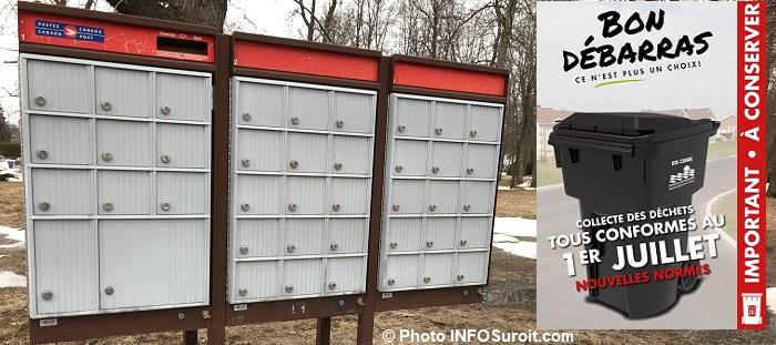 boites aux lettres casiers mars2018 photo INFOSuroit encart Bon debarras collecte des dechets Visuel Valleyfield