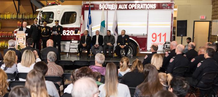 ceremonie remise medailles pompiers de Chateauguay mars 2018 photo courtoisie VC