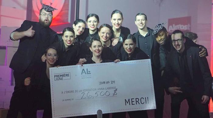 cheque Freak Show 2018 pour Fondation Anna-Laberge photo courtoisie FAL