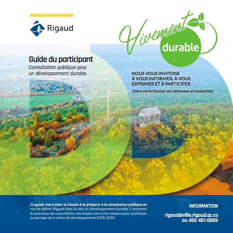consultation developpement durable Rigaud Guide participant visuel