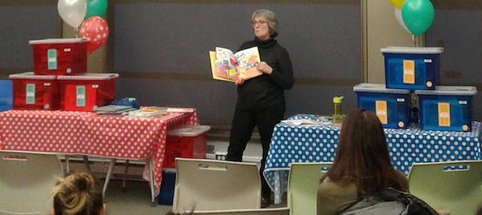 lancement trousses livres pour emporter bibliotheque Vaudreuil-Dorion mars 2018 Photo courtoisie VD
