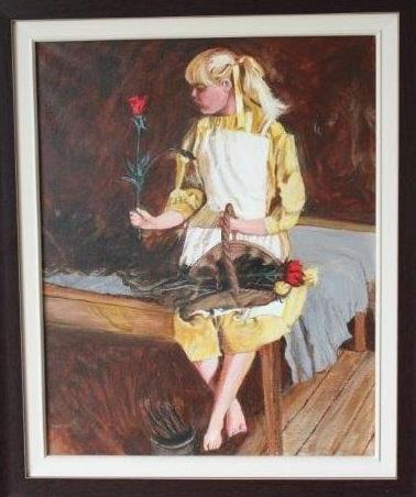 peinture La_jeune_fille_aux_roses de Pierre_Corriveau photo via MRC
