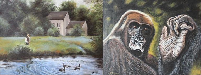 peintures Le_silence_de_l_etang et L_Ancetre de Pierre_Corriveau photos via MRC