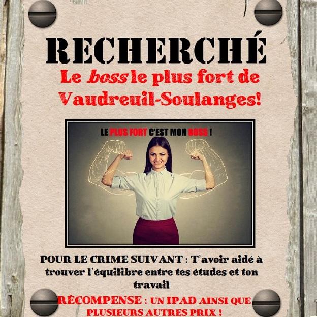 Affiche Recherche Le Boss le plus fort visuel via CJE Vaudreuil-Soulanges