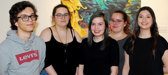 Cegep Valleyfield etudiants participants Intercollegial Arts visuels 2018 a Mtl Photo via ColVal