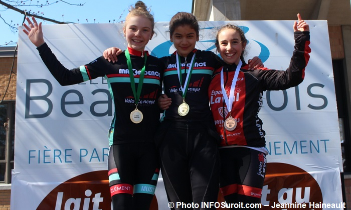 Criterium Beauharnois 2018 course velo podium Pee-wee filles Photo INFOSuroit-Jeannine_Haineault
