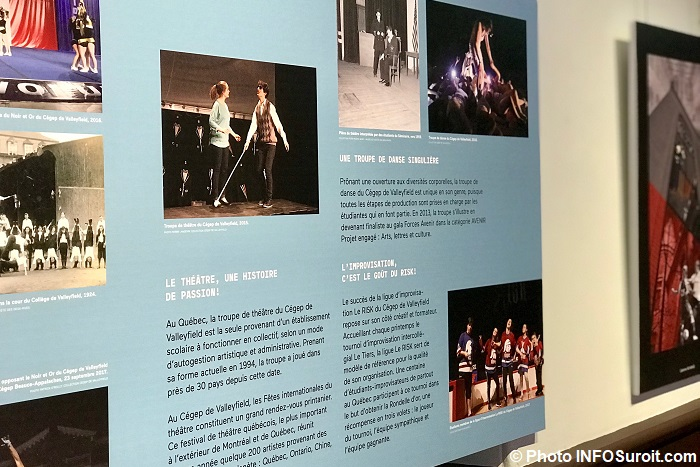 Exposition 50_ans_du_cegep de Valleyfield visuel theatre impro Photo INFOSuroit