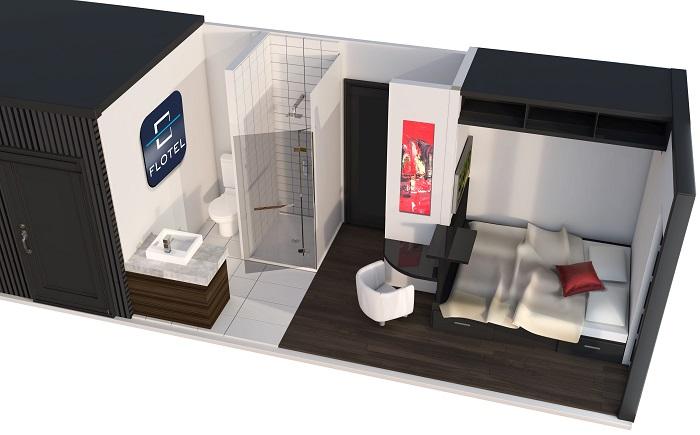 Flotel Valleyfield cabine maquette preliminaire visuel courtoisie SdV