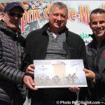 Grand Prix cycliste Ste-Martine 2018 ACharlebois Bernard_Mallette des travaux_publics et ministre SBillette photo INFOSuroit-Jeannine_Haineault