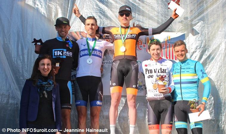 Grand prix cycliste Ste-Martine 2018 velo podium Senior cyclistes photo INFOSuroit-Jeannine_Haineault