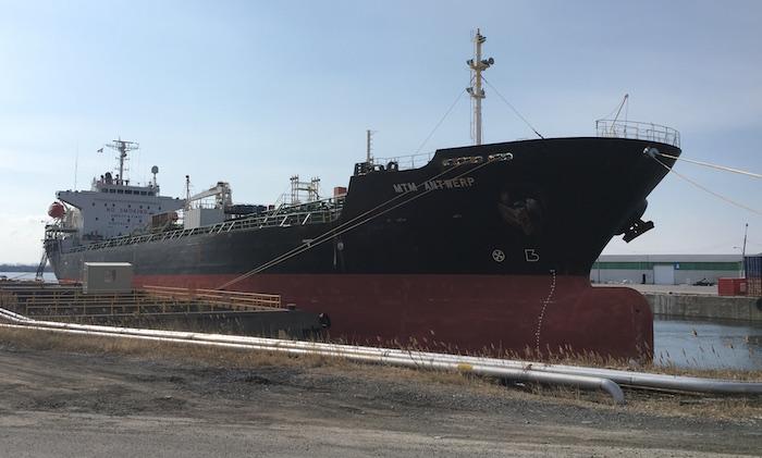 MTM Antwerp premier navire au Port de Valleyfield en 2018 photo SPV