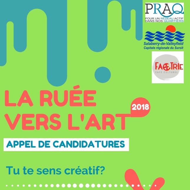 Visuel Appel de candidatures Ruee_vers_l_art 2018 courtoisie PRAQ