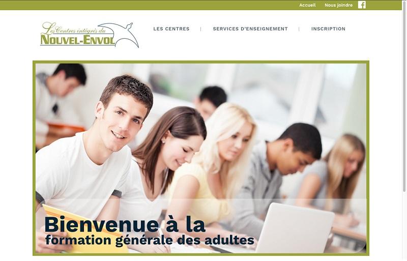 capture ecran site Web centres integres du Nouvel-Envol 11avr2018