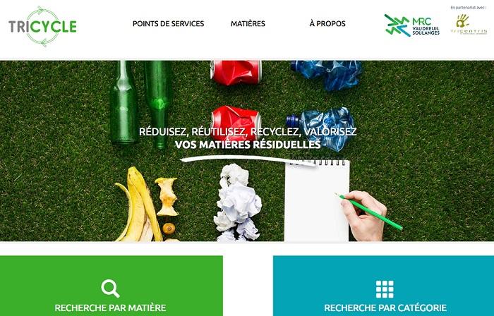 capture ecran site Web tricyle MRC Vaudreuil-Soulanges