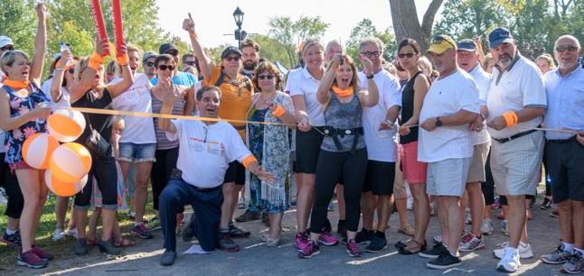 depart Marche 2017 Maison soins palliatifs VS elus et participants photo Madeleine_Langlois via MSPVS