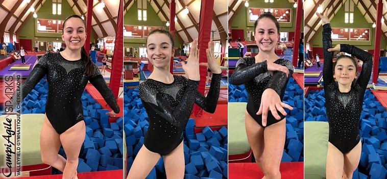 gymnastes CampiAgile P_Charron C_May_Carr MC_Gagne et AK_Ouellette photos courtoisie CA