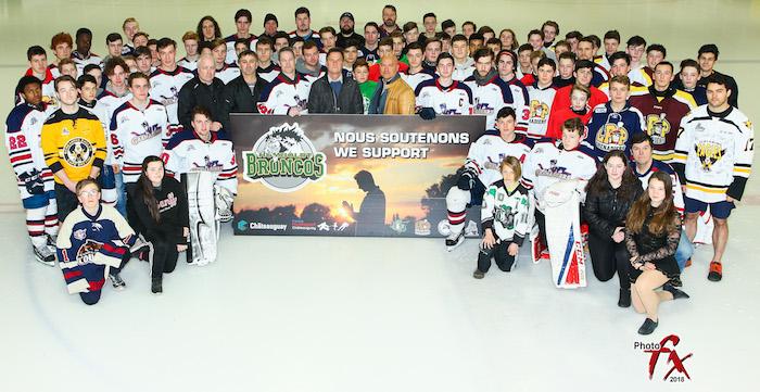 instances sportives et municipales de Chateauguay solidarite pour Broncos Humboldt photo courtoisie VC