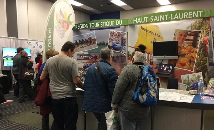kiosque tourisme Haut-Saint-Laurent au salon VR 2018 photo courtoisie via CLD HSL