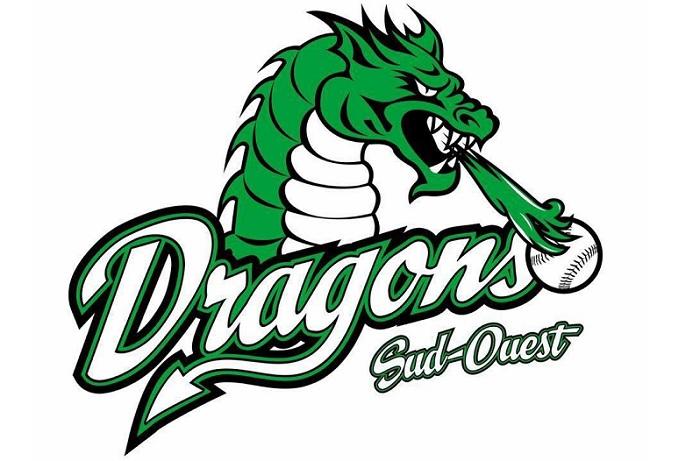 logo Dragons Sud-Ouest U14AA balle rapide visuel courtoisie