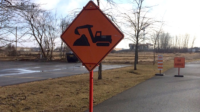 signalisation travaux rue barree alternative a Mgr-Langlois photo courtoisie Ville Valleyfield