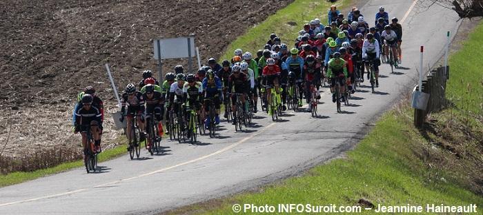 velo GP cycliste de Ste-Martine 2017 sur le parcours groupe cyclistes photo INFOSuroit-Jeannine_Haineault