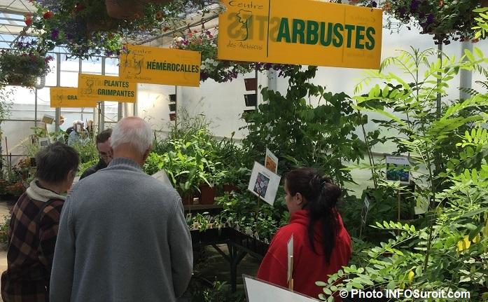 vente plantes arbustes CFP des Moissons 2016 photo INFOSuroit