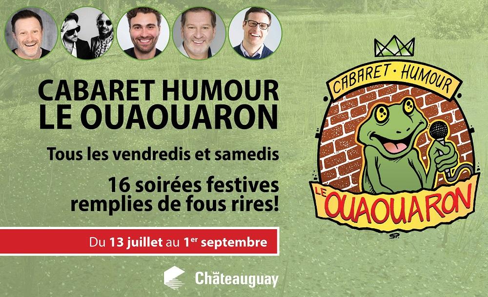 visuel Cabaret humour LeOuaouaron courtoisie Ville Chateauguay