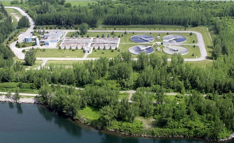 vue aerienne usine epuration des eaux de Valleyfield photo courtoisie publiee par INFOSuroit