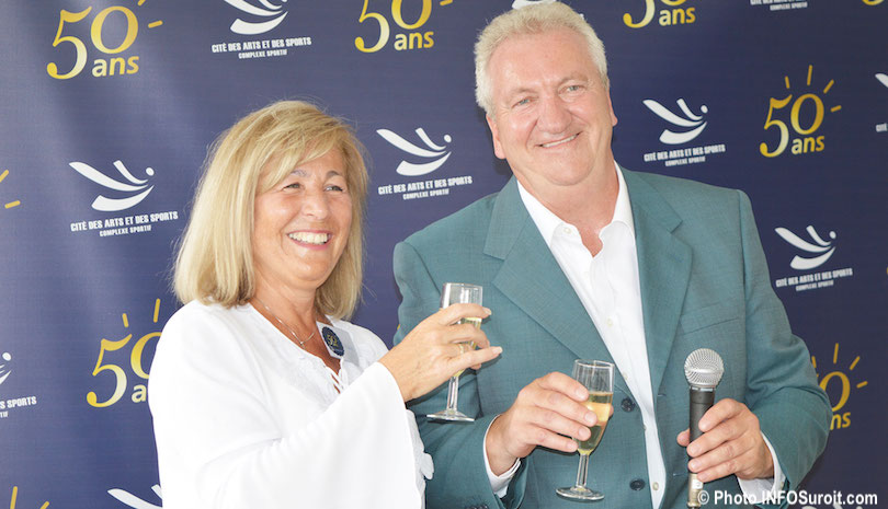 50 ans Cite des arts et des sports Marie_Legault et Francois_Therrien photo INFOSuroit