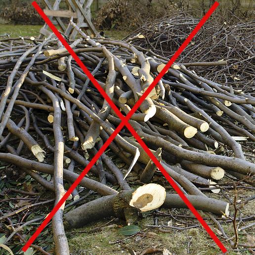 Branches a ne pas faire en vue des collectes speciales Photo courtoisie Ville Chateauguay