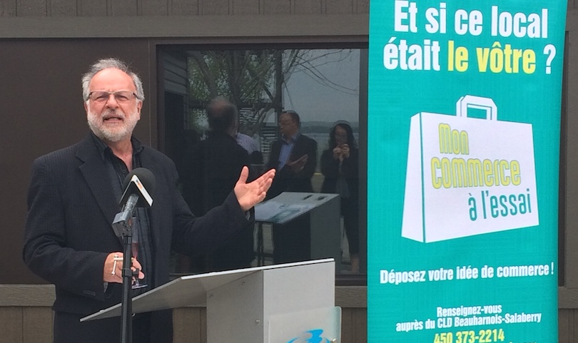 Bruno_Tremblay maire Beauharnois 22mai2018 Photo courtoisie CLD via INFOSuroit