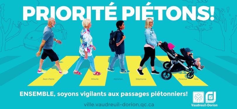 Campagne pietons Ville Vaudreuil-Dorion securite image courtoisie VD publiee par INFOSuroit
